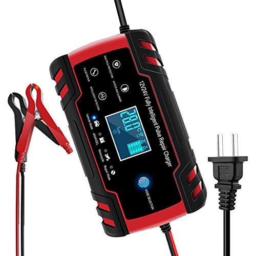 Car Battery Charger,12V/8A 24V/4A Compatible Automotive Smart Portable Battery Charger Maintainer/Pulse Repair Charger…