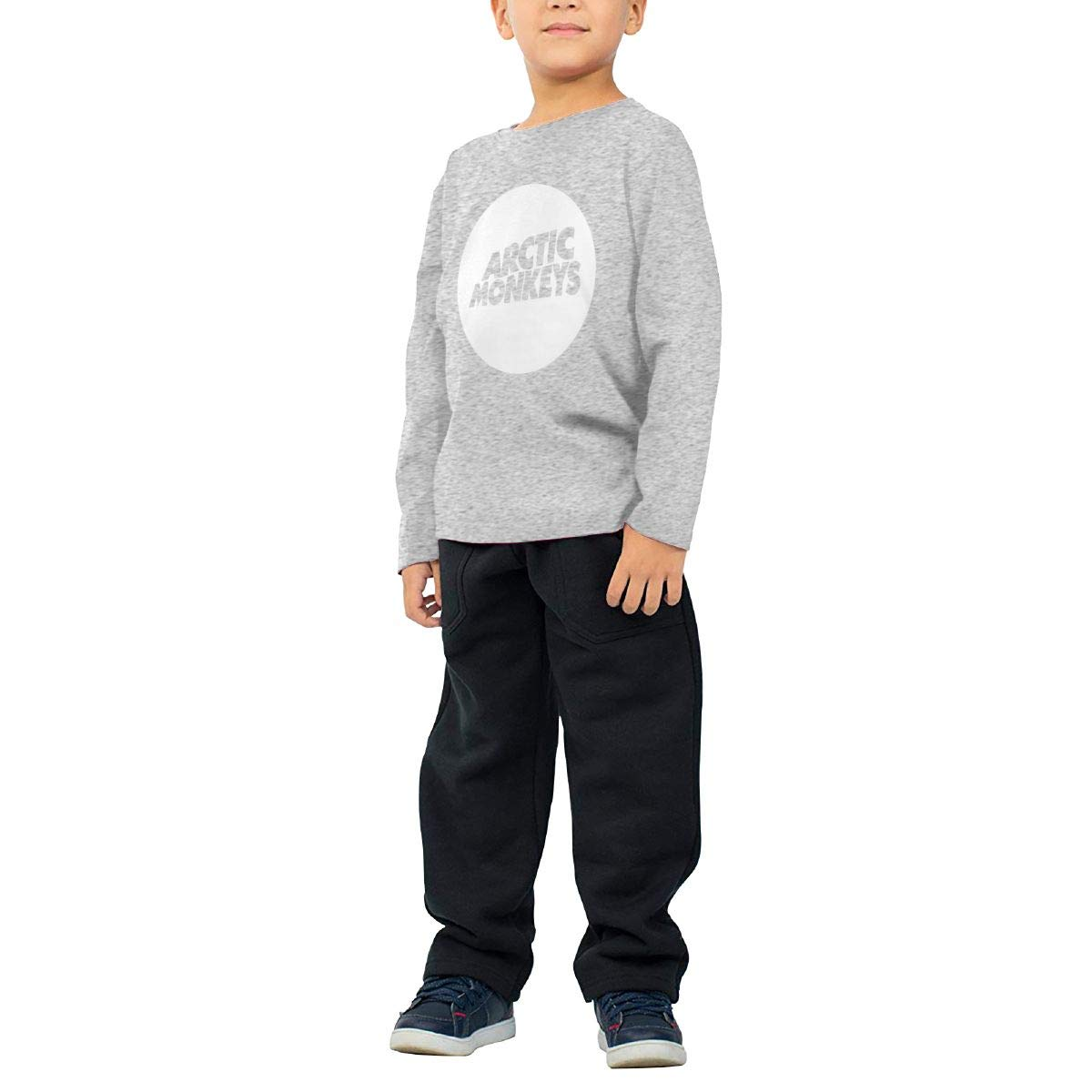 Arctic Monkey Childrens Cotton Gray Long Sleeve Round Neck Boys Or Girls T-Shirt