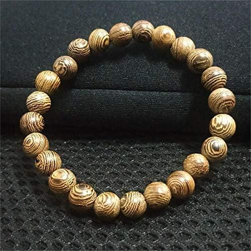 ブレスレット 108真珠白檀仏教のロザリオ ズ パワーブレスレット男性と女性向け(褐色)