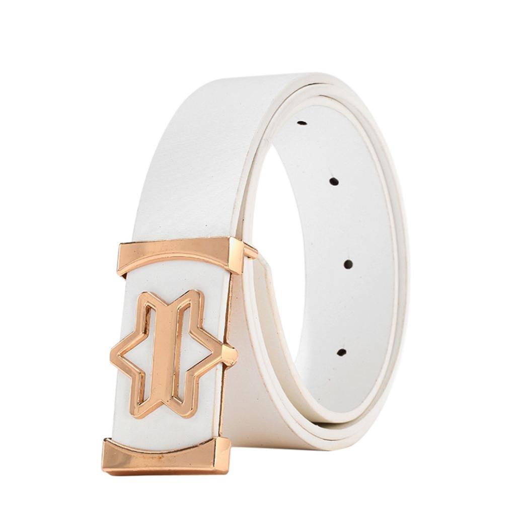 Lywey Fashion Cool Casual Leather Thin Belt Skinny Slender Waistband Unisex