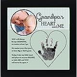 The Grandparent Gift Grandpa Handprint Frame: Grandpa's Heart and Me, Green, Black