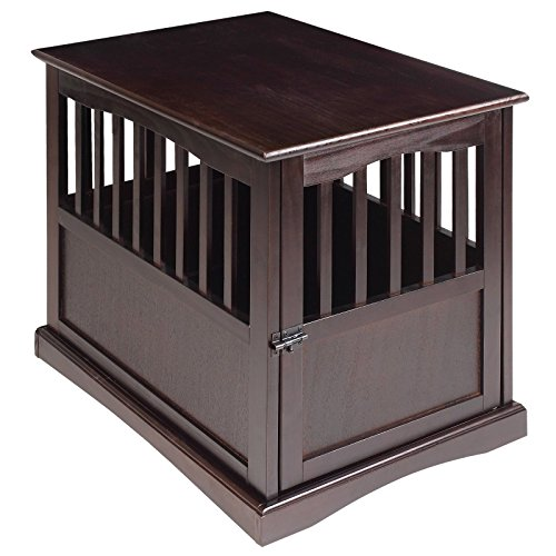 Dog Kennel Wood Bed Large Crate Oversized Pet Cage Wooden Furniture End Table by Casual Home