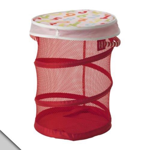 IKEA - KUSINER Mesh basket with lid, red (Ikea Kusiner Mesh Basket compare prices)