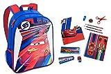 Disney Cars Backpack, Folder, Notebook, Pencils, Eraser, Pencil Case, Scissors, Sharpener, Ruler, and Highlighter - This Bundle Includes 12 Items.