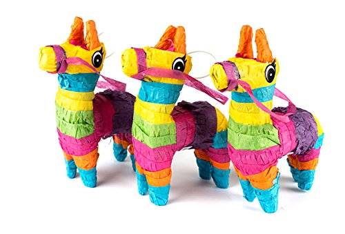 Set of 3 Mini Donkey Pinatas 4