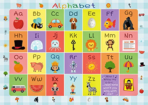 UNCLE WU Alphabet Placemats - Educational Kids Placemats - Non Slip Washable