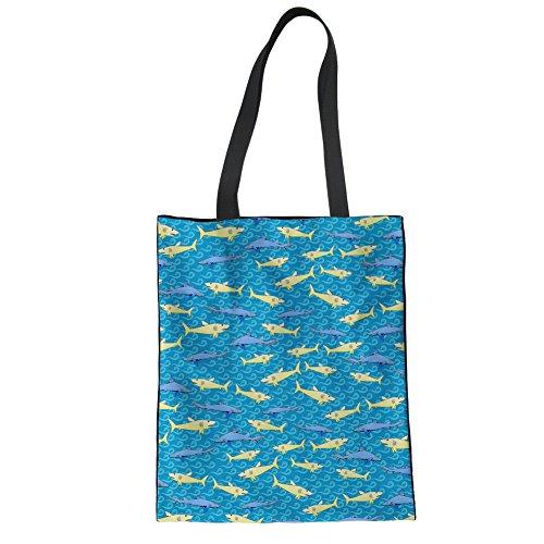 Showudesigns CC5004Z22 - Bolso de asas para mujer Azul azul Talla Unica shark 1