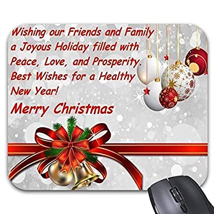 Amazon.com : Quotes for Merry Christmas Mouse Pads - Stylish Office ...