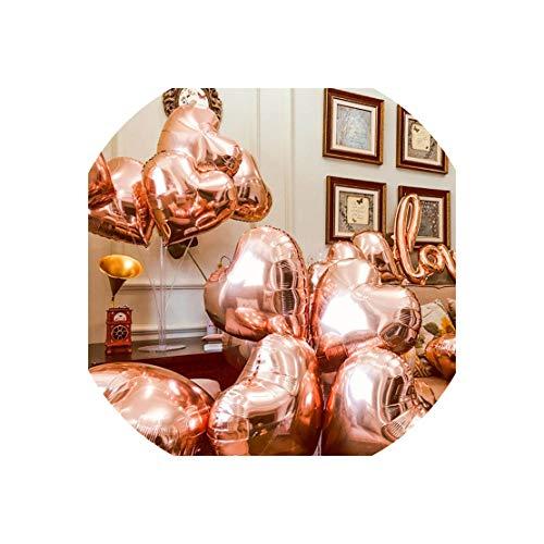 Balloon 5Pcs 18Inch Golden Silver Balloons 18Inch Aluminum Foil Stars Balloons Wedding Decoration Birthday Party Balloons Toys,Beige