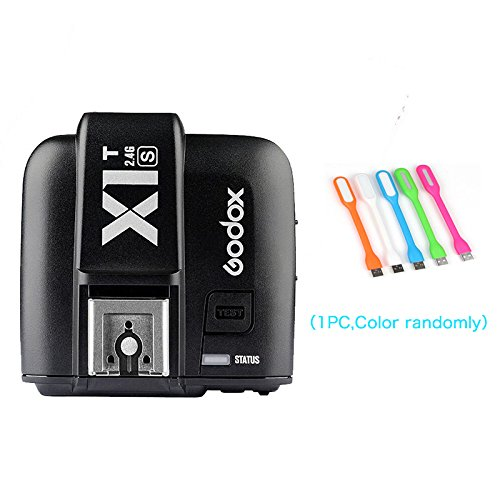 Godox X1T-S TTL 1/8000s HSS 2.4G Flash Remote Trigger Transmitter Compatible for Sony Cameras+CONXTRUE USB LED (X1T-S Trigger)