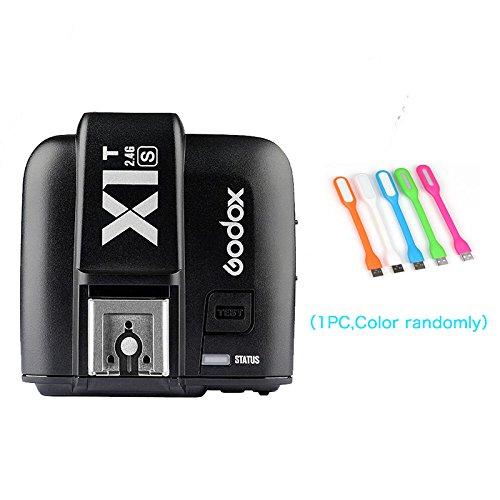 Godox X1T-S TTL 1/8000s HSS 2.4G Flash Remote Trigger Transmitter for Sony Cameras+CONXTRUE USB LED (X1T-S Trigger) by Godox