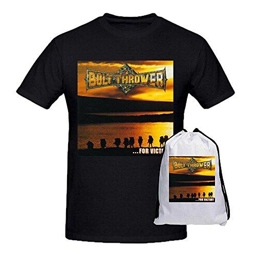 Bolt Thrower For Victory Men's Short Sleeve Crew Neck T-Shirt Black