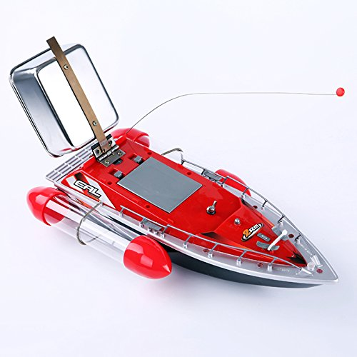 SNNplapla 1-SET RC Bait Carrier Fishing Boat Electric Fish Finder Tools Powered by Battery 5200MAH (Red)