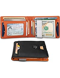 Slim Wallet with Money Clip AUSTIN RFID Blocking Card Mini Bifold Men
