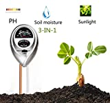 Supersks 3-in-1 Soil Tester Meter Test Kit for Light, Moisture and PH...