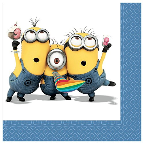 Amazon.com : Pack 20 servilletas Papel Minions : Office Products