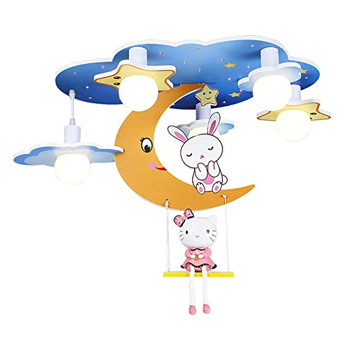 Dibujos Rabbit lámpara Moon de WWLONG Chandelier led TlKF1Jc3