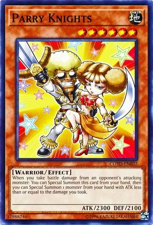 En037 Common Card - Parry Knights - COTD-EN037 - Common - Unlimited Edition - Code of the Duelist (Unlimited Edition)
