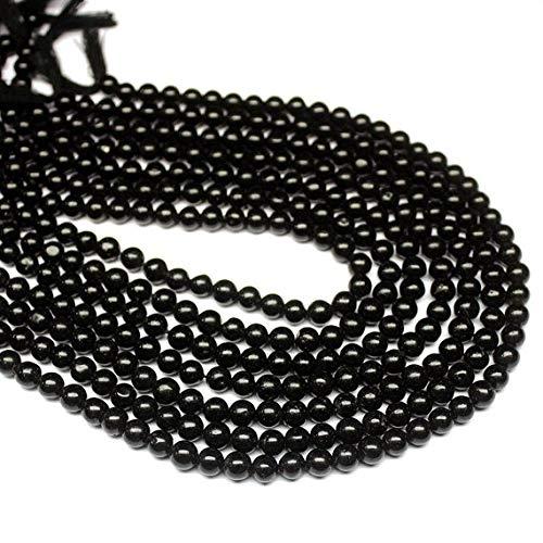 Beads Bazar Natural Beautiful jewellery 5 Strand Natural Onyx Smooth Round Ball Gemstone Craft Loose Beads 13