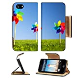 MSD Premium Apple iPhone 5 iPhone 5S Flip Pu Leather Wallet Case iPhone5 IMAGE ID 31309759 Group of Pinwheels on grass
