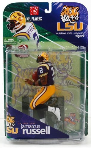 McFarlane Toys NCAA COLLEGE Football Sports Picks Series 1 Action Figure JaMarcus Russell (Louisiana State Tigers) Variant PURPLE Jersey by Unknown