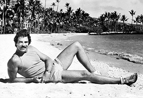 Magnum P.I. Poster, On the Beach, Tom Selleck, Private Investigator, (1980 Poster)
