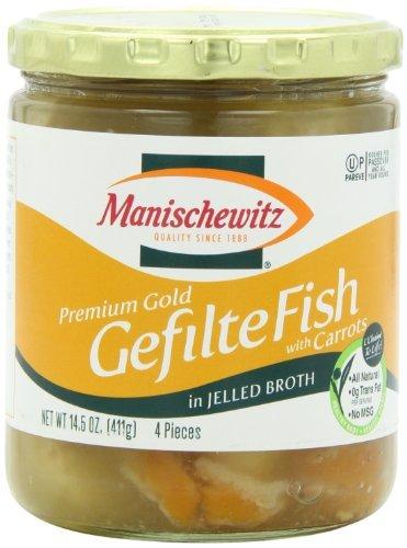 Manischewitz Gefilte Fish (Manischewitz Premium Gold Gefilte Fish No MSG, 14.50-Ounce (Pack of 3))