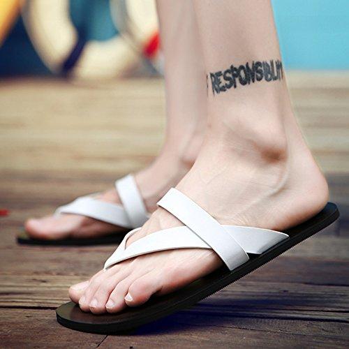 Sandali Feet da Flip Estate Sandali pantofole da uomo Sandali AIHUWAI uomo Uomo casual antiscivolo white Pantofole e Infradito Sandali A Sandali gCqwP4YU