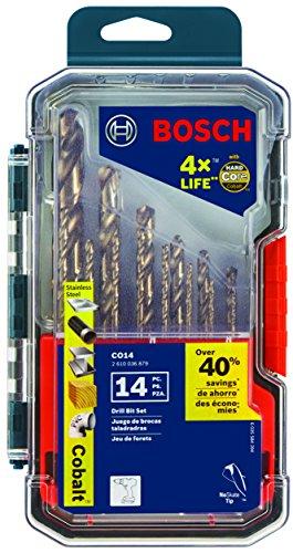 Bosch 14 Piece Cobalt Metal Drill Bit Set CO14 for sale