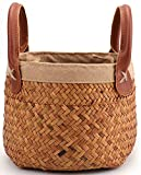 Yesland 2 Pack Woven Cylindrical Basket with