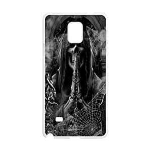 SOPHIA Phone Case Of Wings of death Cool skull Painting For Samsung Galaxy Note 4