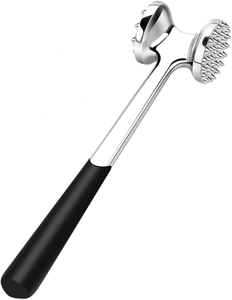 TGOOD Meat Tenderizer, Heavy Duty Hammer Mallet Tool for Tenderizing, Flattening & Pounding Venison, Pork, Veal, Lamb, Chicken, Steak & Turkey-Dual-Sided Steak Pounder, Dishwasher Safe Meat Beater