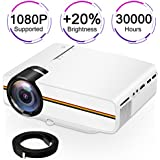 Touyinger X5 1500 Lumens Multimedia Mini LCD Game Video Projector, Kids Gift