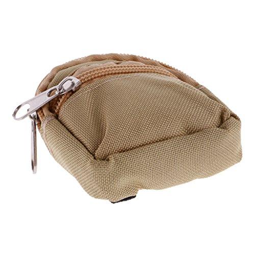 Baoblaze Mini Puppen Rucksack Schultasche mit Reißverschluss Für 1/6 BJD SD Puppe Outfit - rot Kaki