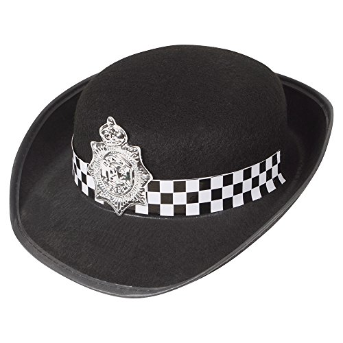 Toyland British Police Hat Ladies Wpc Officer Womens Fancy Dress Hat (Police Fancy Dress Women)