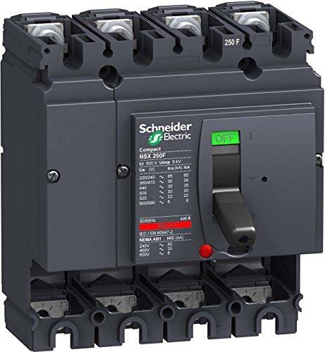 Schneider electric lv431408cortacircuitos Compact nsx250F–250A–4pôles–Sans unité de déclenchement