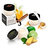Beauty For Real Natural Lip Scrub 3 Piece Set - Lip Revival Exfoliating and Hydrating Lip Scrub, 0.5 oz Each