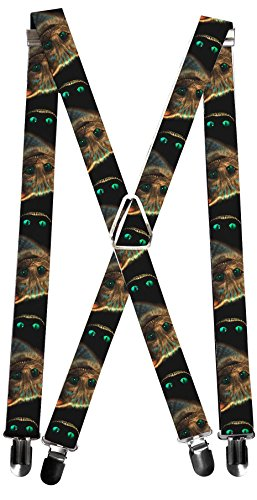 Buckle-Down Suspenders - Tim Burton's Cheshire Cat Face/eyes & Teeth Accessory, -Multi-Colored, One Size