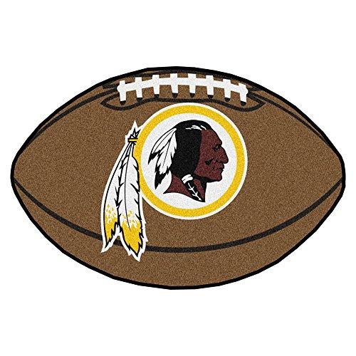 FANMATS NFL Washington Redskins Nylon Face Football Rug (Nfl Football Team Area Rug)