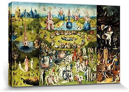 1art1 El Bosco - El Jardín De Las Delicias, 1500 Cuadro, Lienzo Montado sobre Bastidor (120 x 80cm): Amazon.es: Hogar