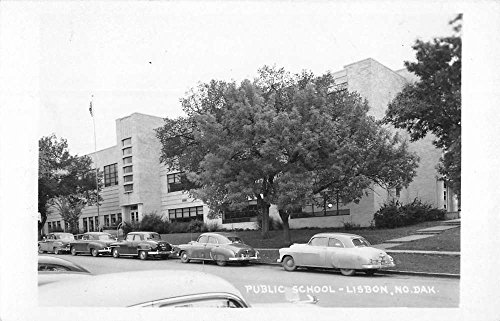 Lisbon North Dakota Public School Real Photo Antique Postcard K82221