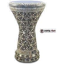 """Gawharet El Fan 18.5"""" The Arabian Shield NG Sombaty Mother of Pearl Darbuka Doumbek Drum"""