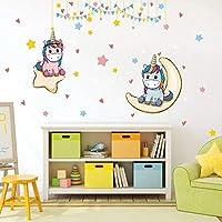 Kibi Unicornio Pegatinas de Pared de Unicornio Para Niñas Niños Dormitorio Pegatinas Unicornio Pared Pegatina de Pared…