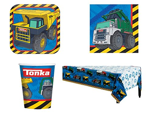 Tonka Trucks Construction Party Pack for 8 Guests -