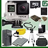 GoPro HERO4 BLACK 4K Action Camera + 32GB Greens Camera Bundle 3