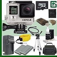 GoPro HERO4 BLACK 4K Action Camera + 32GB Greens Camera Bundle 3