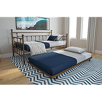 Amazon Com Dhp Manila Twin Metal Daybed Frame And Twin