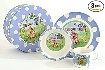 Michel Design Works Babyu0027s First Plate Set - Snuggle Bunny ...  sc 1 st  Amazon.com & Amazon.com: Michel Design Works Babyu0027s First Plate Set - Snuggle ...