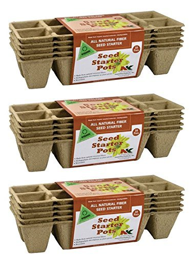 Plantation Products Peat seed Strips pots Absorbent, (pack of 3)