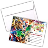 Invitations 20 X Lego Marvel Super Heroes Birthday Party Invites Cards